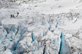 climbing on glacier
