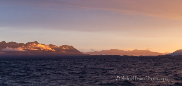 sunrise in southeast alaska